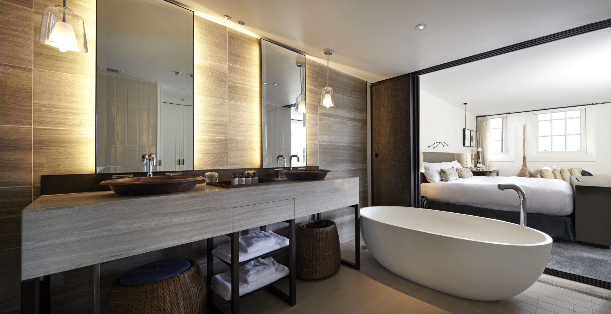 Bath envy at the sebel pier one 39 s new suites the for 5 star bathroom designs