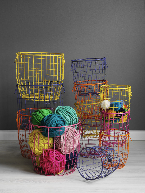 Basket Making Supplies Melbourne : The simplicity of wire and a pop colour make for