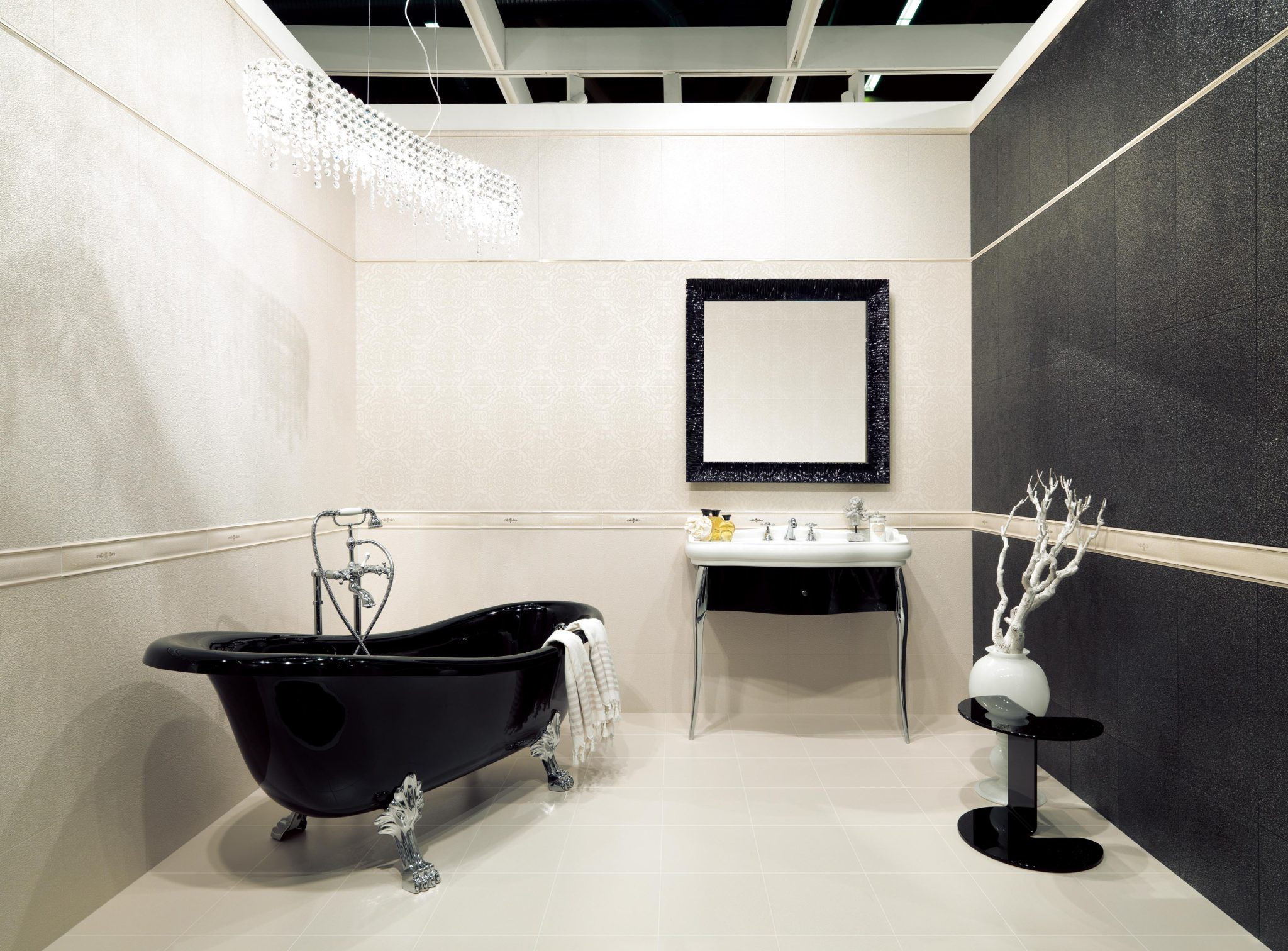 Luxury tiles in partnership with fashion house valentino the interiors addict - Valentino ceramiche bagno ...