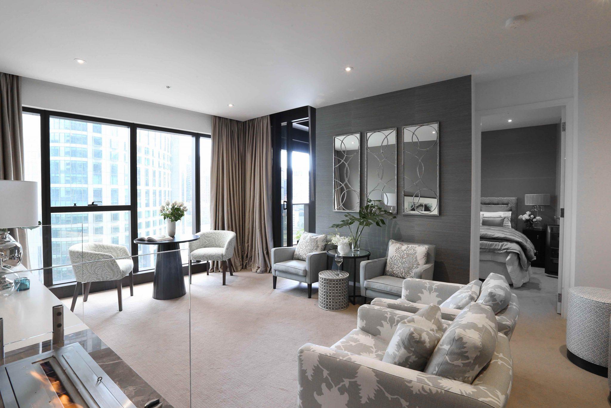 Sophisticated apartment in melbourne 39 s prima pearl the interiors addict - Apartments interior ...