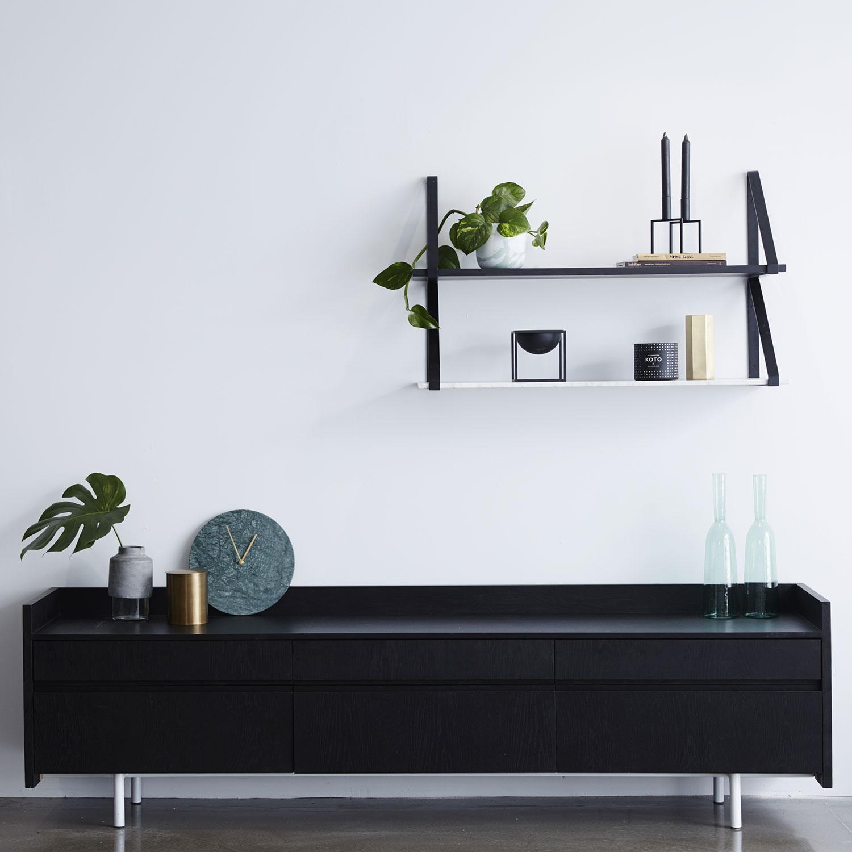 mirror shelves. marble-shelves+manly-styled mirror shelves