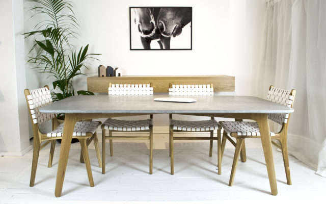 Inspirational StudioFiveo Oscar Concrete Dining Table