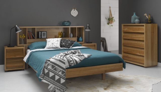Ideal Other styles include Yarra an African Oak hardwood blanket box suite Cubist a versatile design featuring reversible bedhead and interchangeable bedside