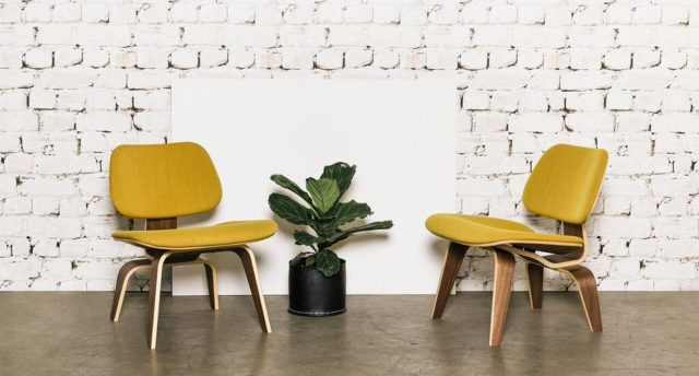 discount designer chairs. a sample of products available this month include authentic ex-floor stock herman miller eames moulded plywood dining chairs that are selling for $450 each discount designer