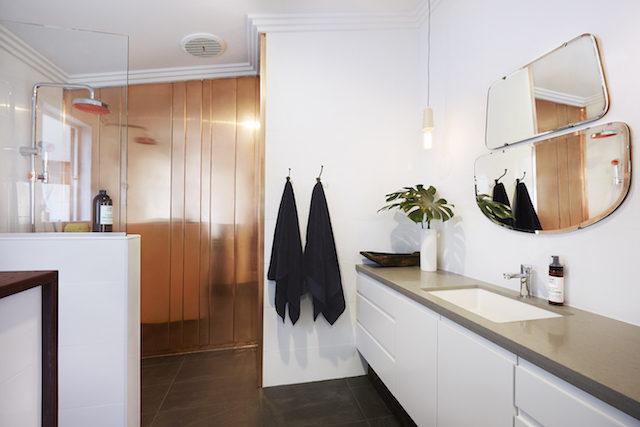Simple Lovely copper bathroom detail