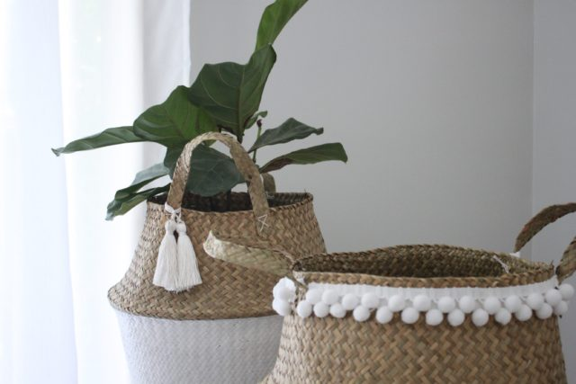 the two baskets together