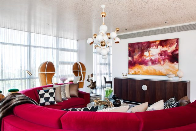 Scott's work in a Penthouse styled by Alexander Pollack Interiors