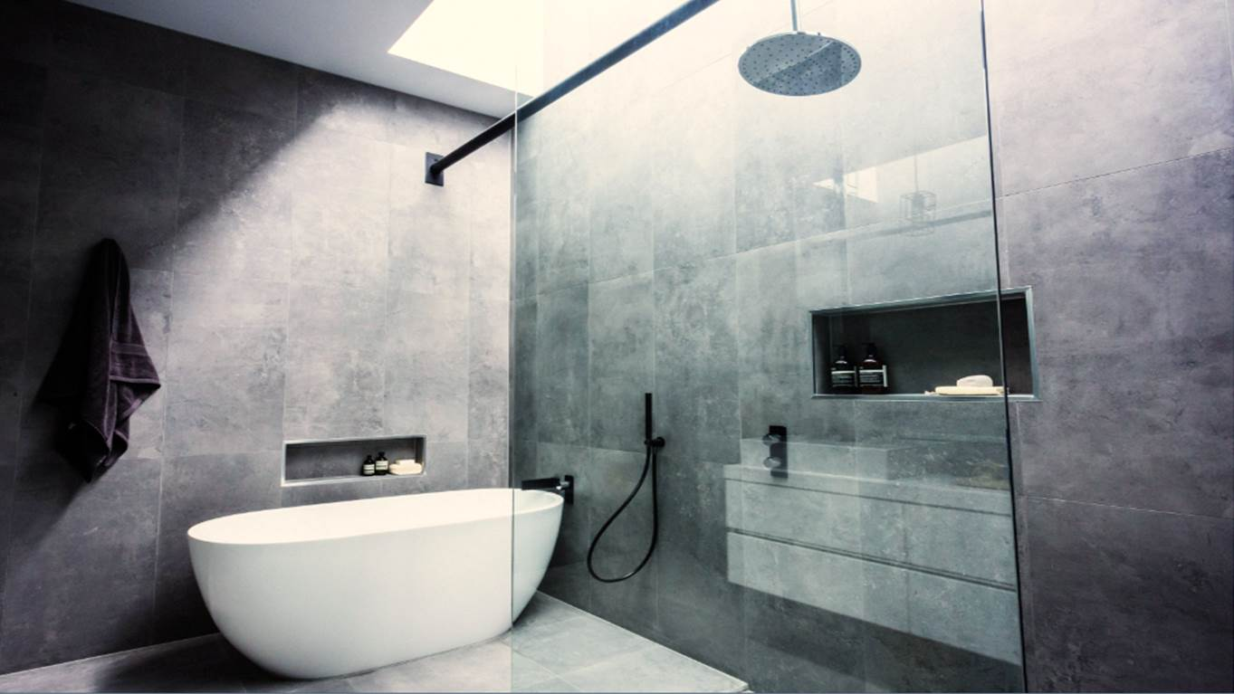 Get the look the block glasshouse main bathroom reveals for Best bathroom 2014
