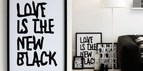 I love black and white schemes