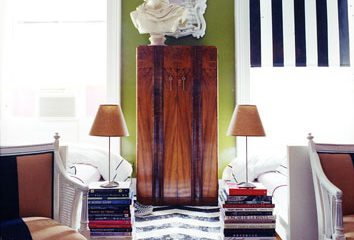 interiordecline: Your coffee table book collection can double as a little side table