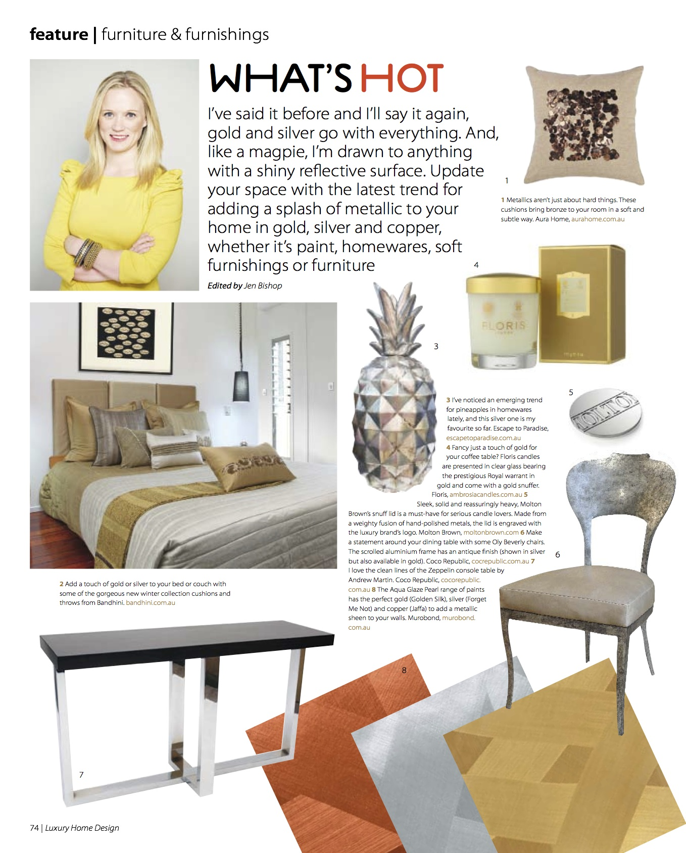My trend report in Luxury Home Design magazine, out today - The ...