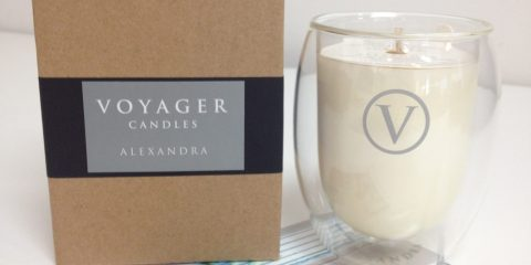 Stylish design of new Voyager candle brand