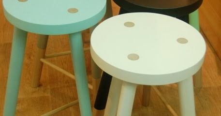 Cute wooden stools in any colour you like. Discount for Interiors Addicts!