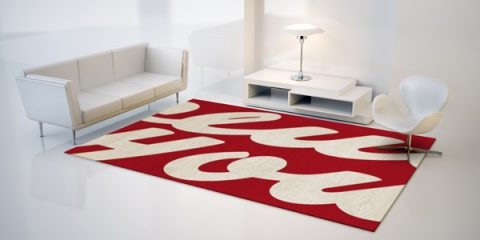 Typography + rugs = winning!