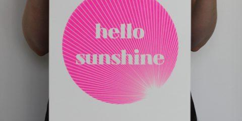 Sunny screen prints from Olive & Joy