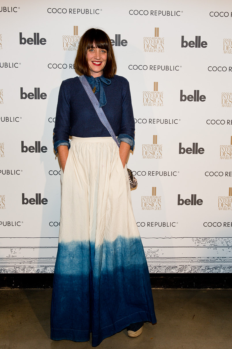 My favourite outfit of the night must go to stylist Megan Morton, looking all kinds of blue fabulous