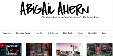 Abigail Ahern's blog has a new look and a forum