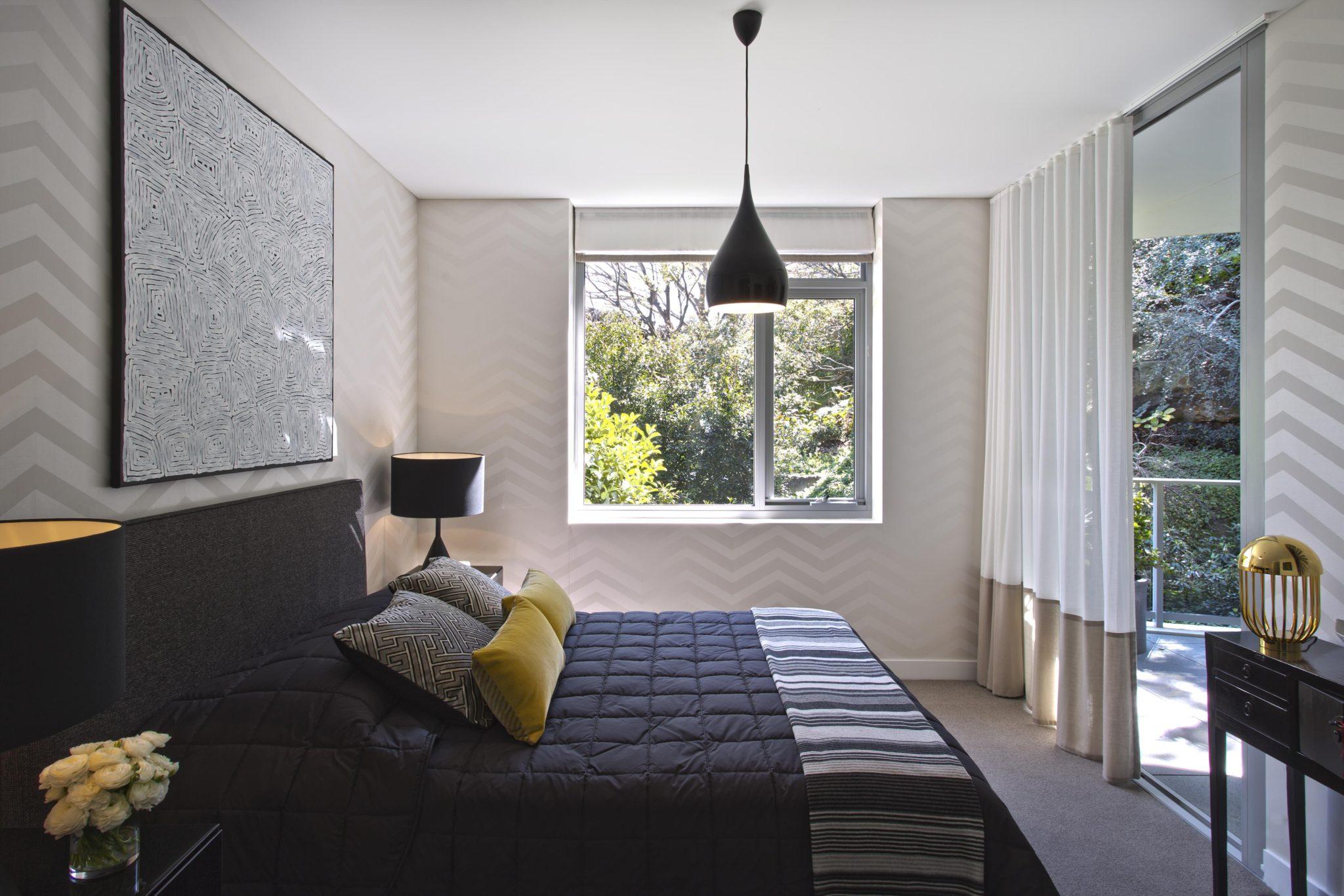 Greg natale design 39 s display apartment revealed at harold for Belle bedroom ideas