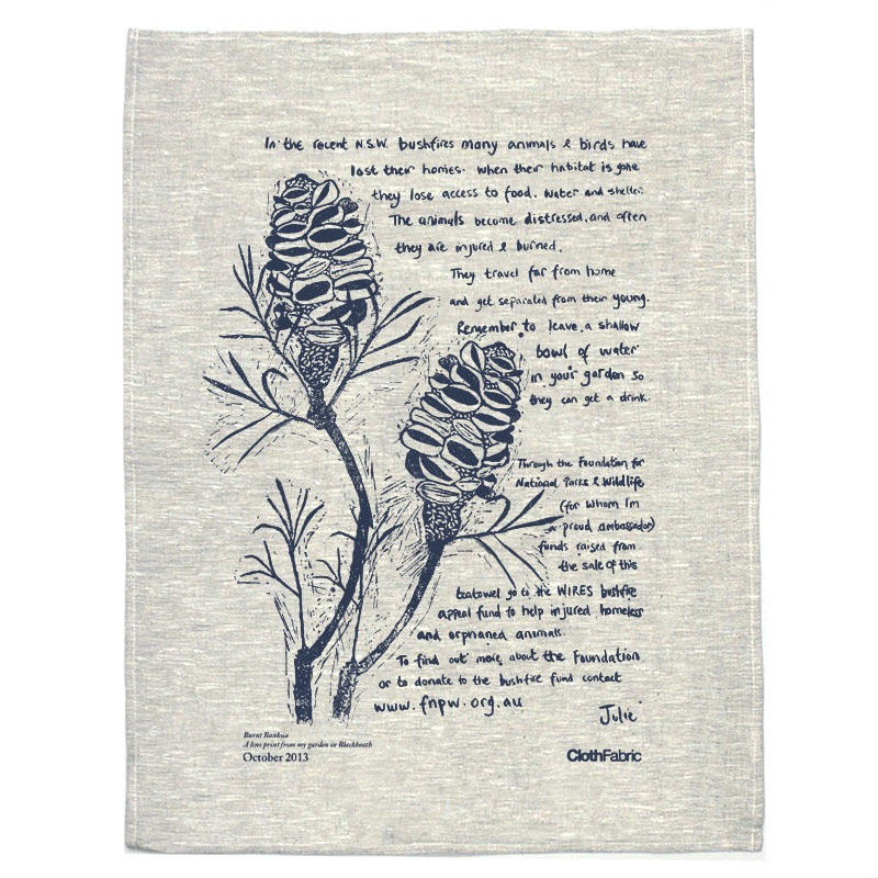 cloth fabric bushfire teatowel 2