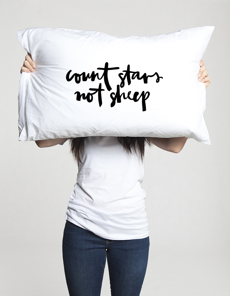 Jasmine Dowling - Count stars not sheep pillowcase