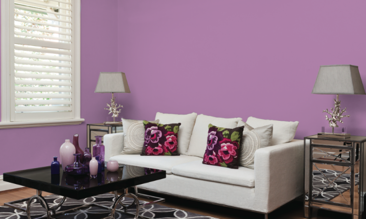 Shaynna Blaze on how to use Pantone's Radiant Orchid in your home