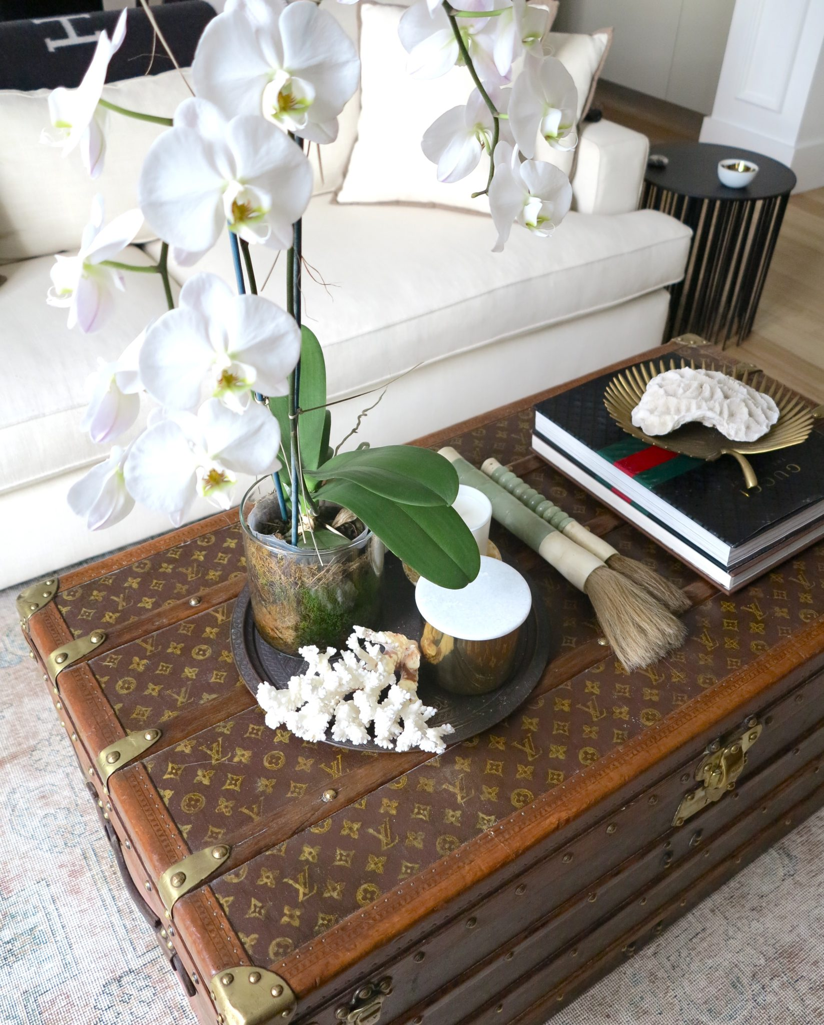 Covet my coffee table with stylist steve cordony the interiors i think your home should represent not only your personal style but be a 3 dimensional scrapbook of your life says steve the little vignettes around geotapseo Image collections