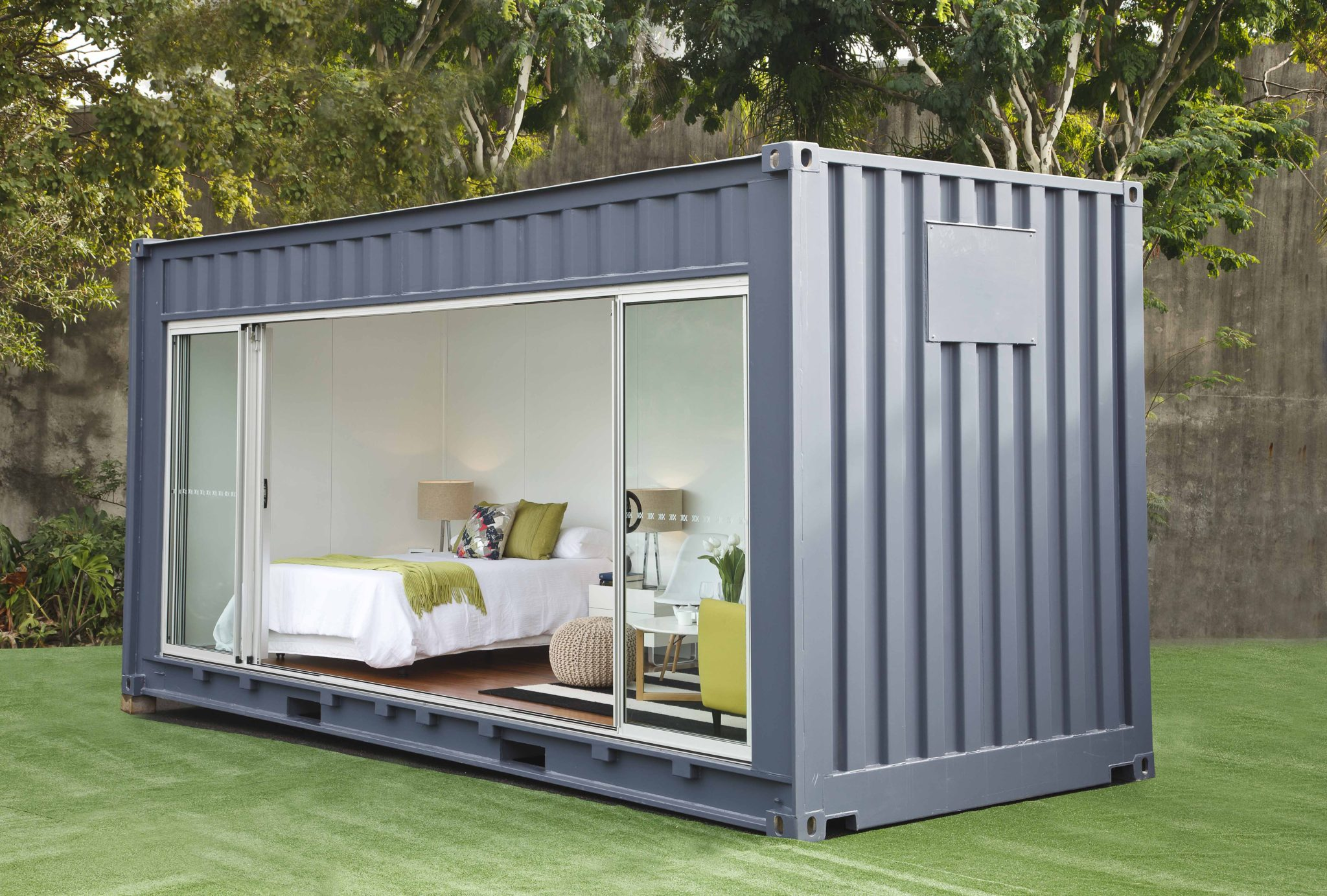 Need extra room rent a shipping container for your for Cost to build shell of house