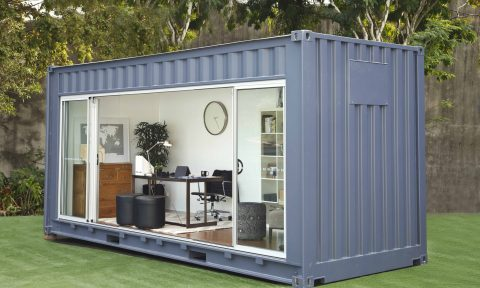 Need extra room? Rent a backyard shipping container!
