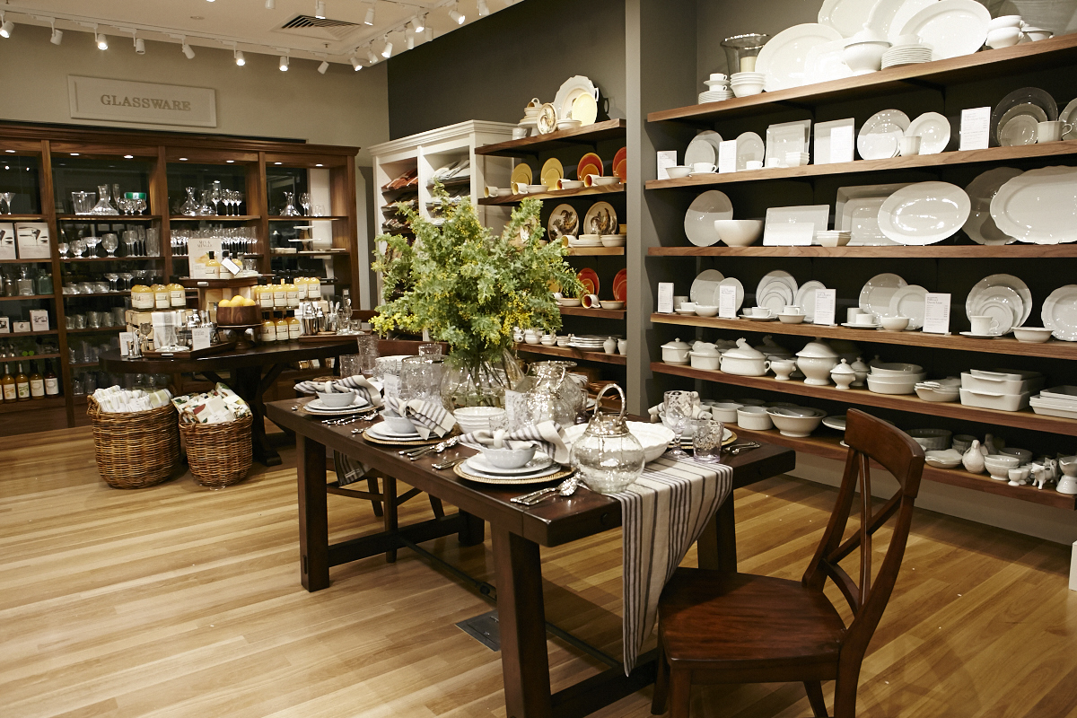 Worlds First Interconnecting Williams Sonoma Inc Stores Open In