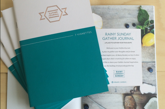 Introducing the 7 Vignettes Gather Journal from Rainy Sunday