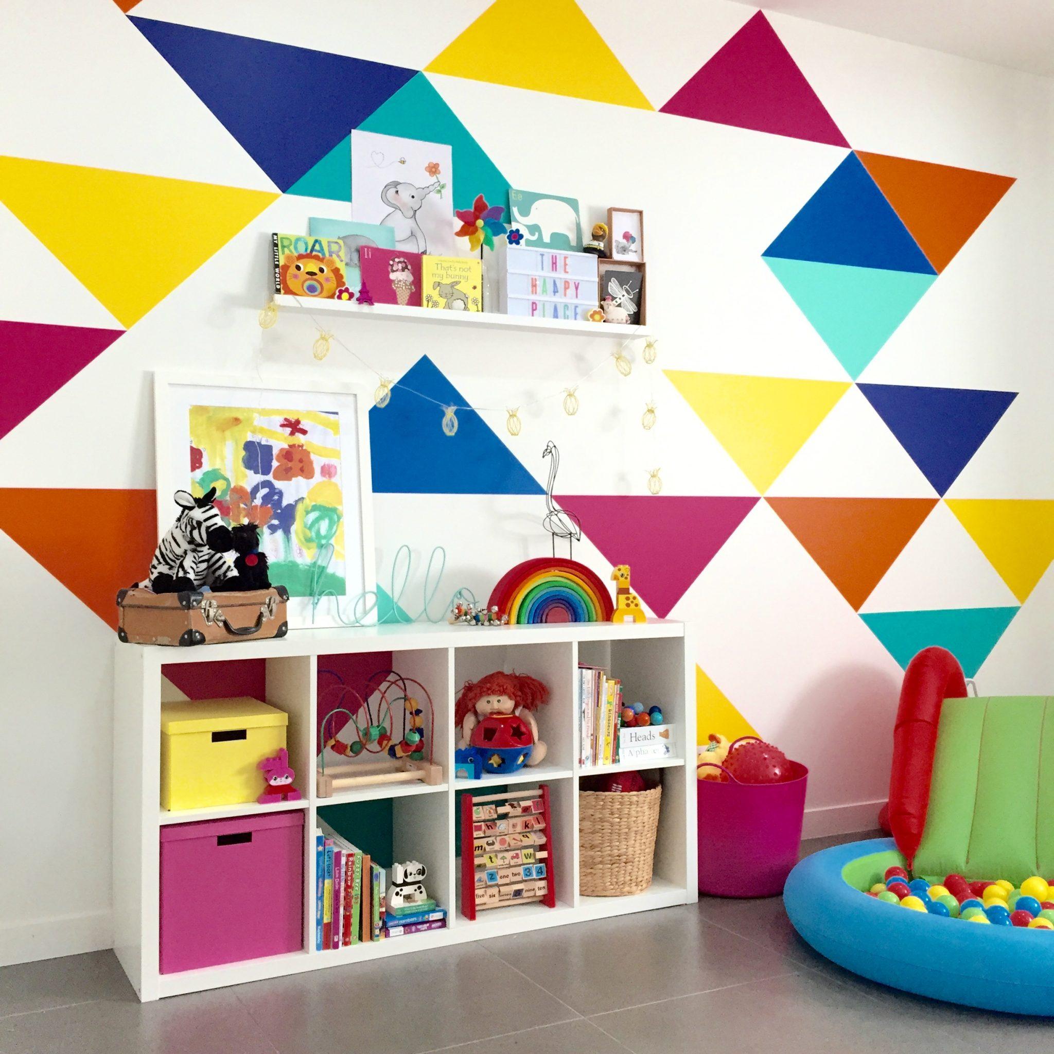 Colorful Playroom Design: Australian Nursery Ideas: With Vivid Wall Decals