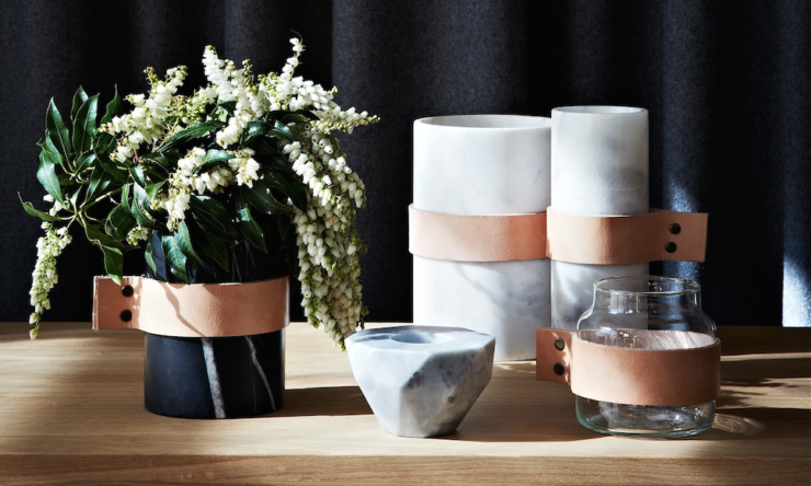 Curious Grace's Scandi-inspired marble & leather homewares