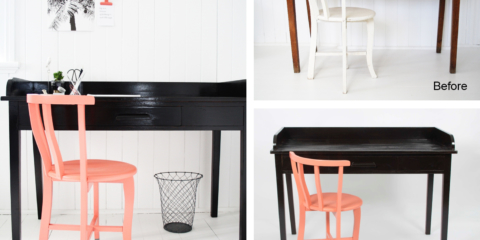 Upcycling how-to: the chair and desk with wow factor