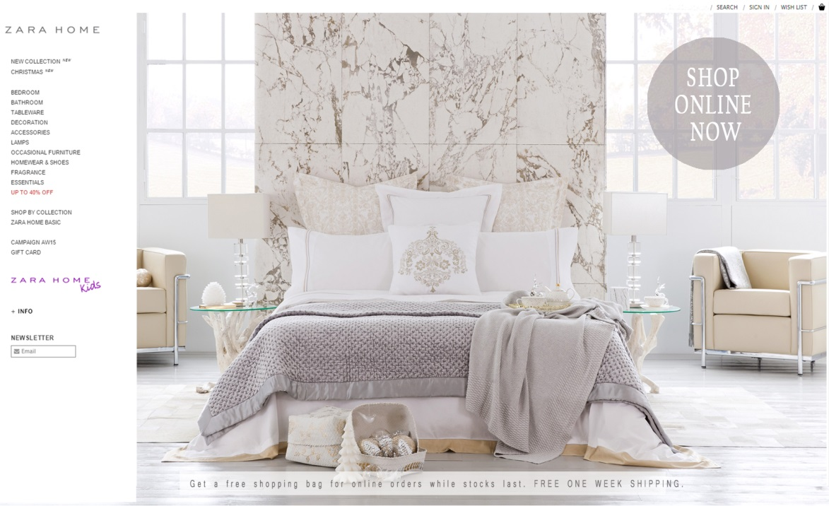 Ordinaire Zara Home Online Homepage