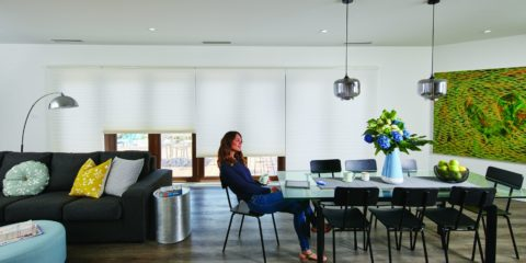 Set the mood with wireless Luxaflex blinds