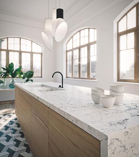 Caesarstone Coastal Grey Kitchen Caesarstone: Caesarstone Expands Its Line-up Of Marble Inspired Designs