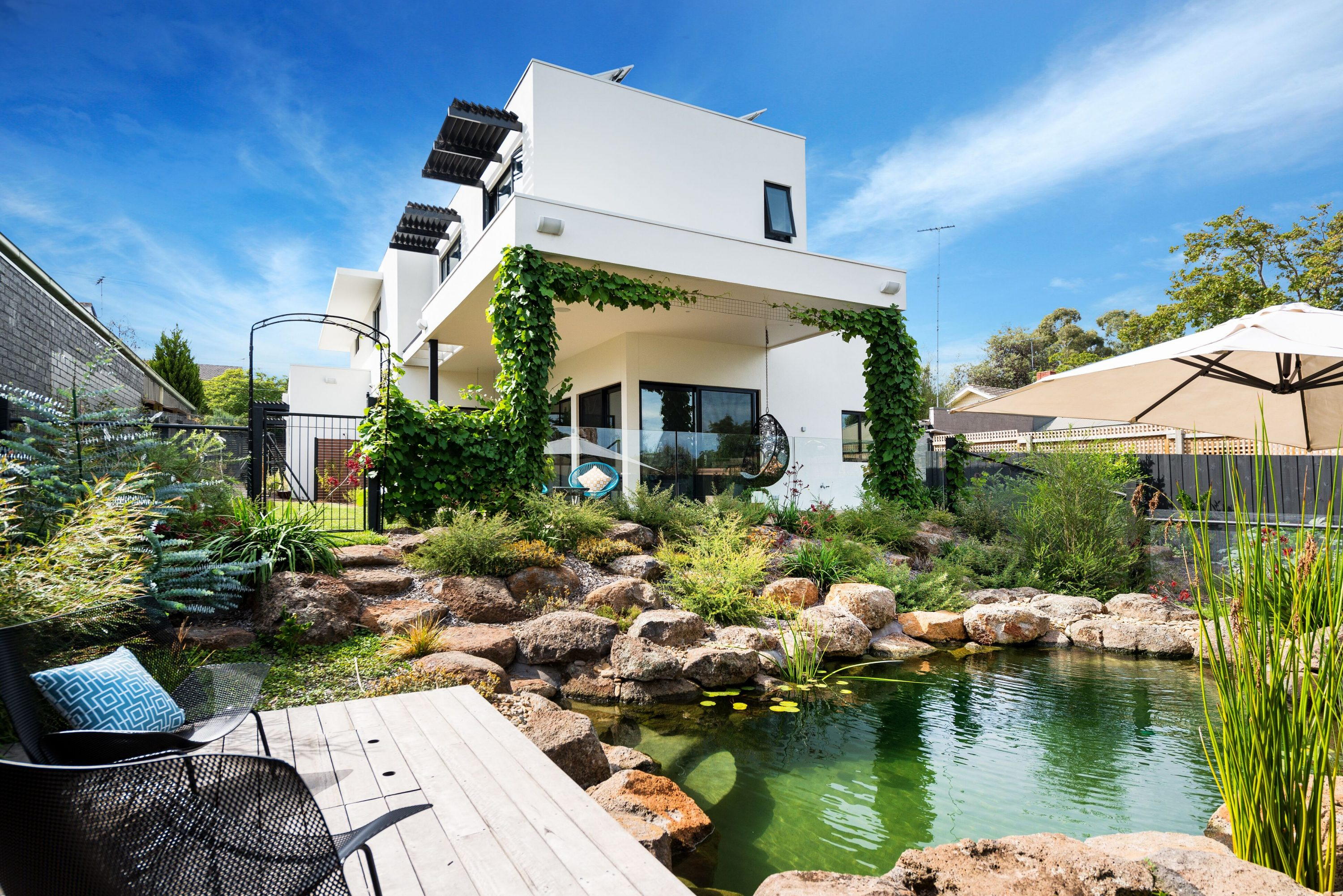 House Tour This Sustainable Home Has Its Own Billabong