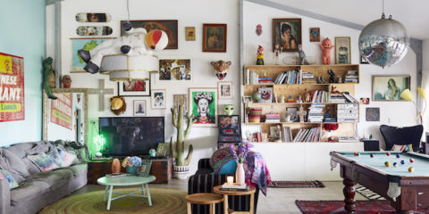 Modern bohemia: This loft-style home is full of upcycled finds