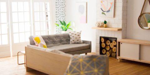 Creating modern dollhouse furniture was this mum's saviour