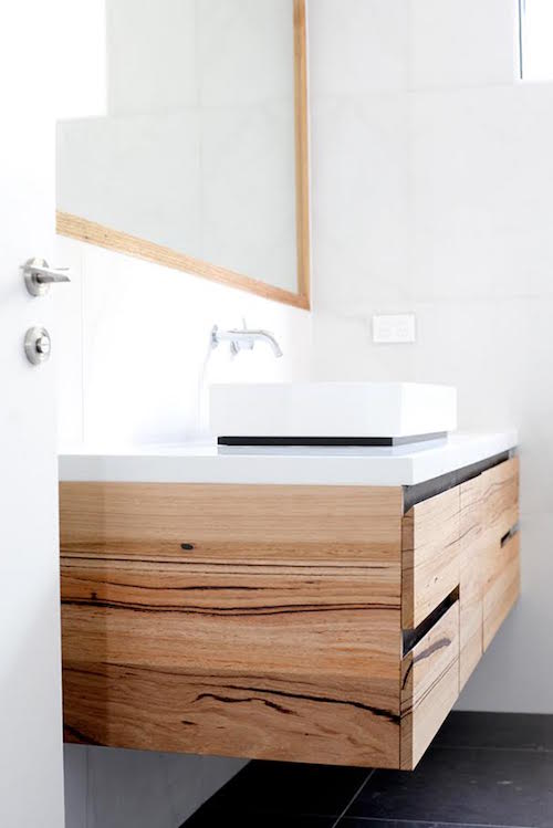 New Custom timber vanity by Bombora Custom Furniture