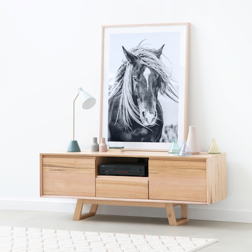 The Mid Century Inspired Baxter Buffet And A Gorgeous Horse Print