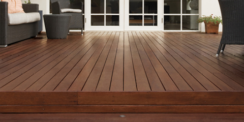 The matt look moves into timber and decking