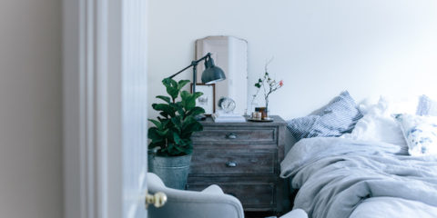 Influencer Abbie Mellé's bedroom makeover with Pottery Barn