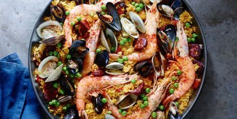 Foodie Friday: Spanish paella with chorizo and seafood