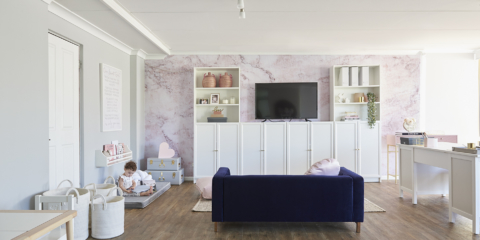 Design feat: A super stylish combined office & playroom