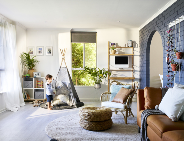 Kids' nook on left