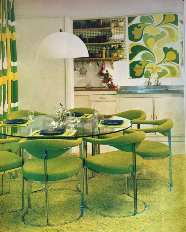 1970's dining room