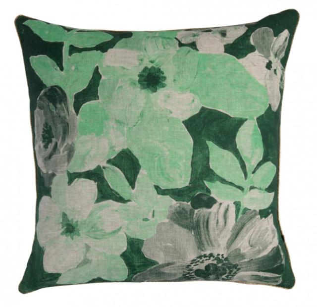Bonnie & Neil green cushion