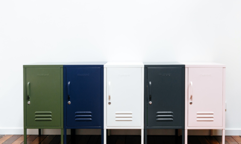 Vintage style lockers in fab colours: new brand Mustard