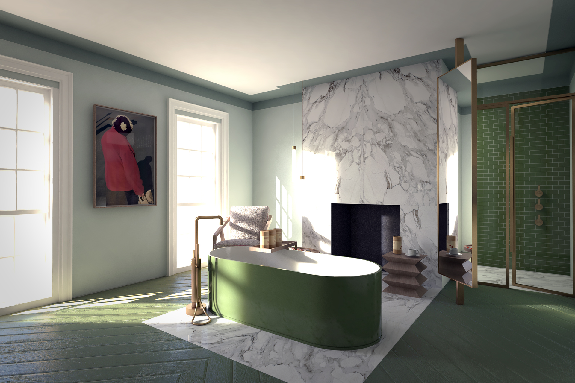 Green glamour: An avocado bathroom in Notting Hill - The ...
